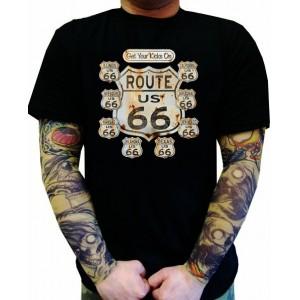 Koszulka motocyklowa Get Your Kicks On Route US 66