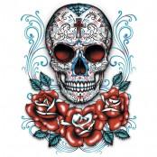 Koszulka Sugar Skull With Red Roses