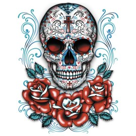 Koszulka Sugar Skull With Red Roses