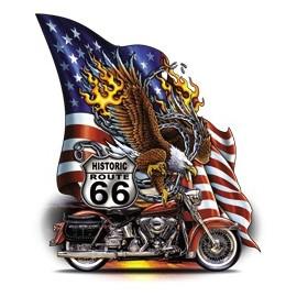 Koszulka motocyklowa Route 66 Eagle Flag