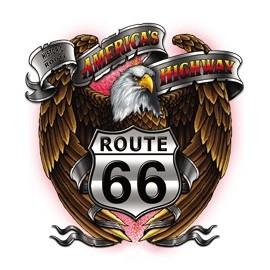 Koszulka motocyklowa Route 66 Highway Eagle