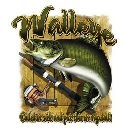 Koszulka dla wędkarzy Walleye