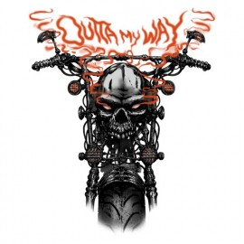 Koszulka motocyklowa Outta My Way Skull Bike