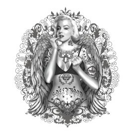 Koszulka Marilyn With Wings and Tattoos
