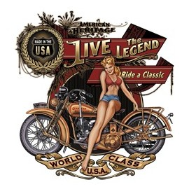 Koszulka motocyklowa American Heritage Girl