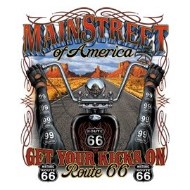 Koszulka motocyklowa Main Street of America Route 66