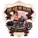 Koszulka motocyklowa Ass Gas or Grass Girl