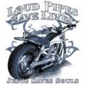 Koszulka motocyklowa Loud Pipes Saves Lives