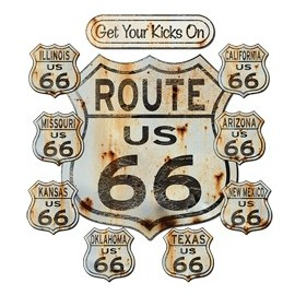 Koszulka motocyklowa Get Your Kicks On Route US 66