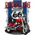 Koszulka motocyklowa Route 66 With Historic Red Motorcycle
