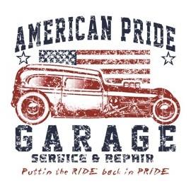 Koszulka auto American Pride Garage Servis & Repair