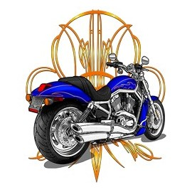 Koszulka motocyklowa Pinstripe Chopper